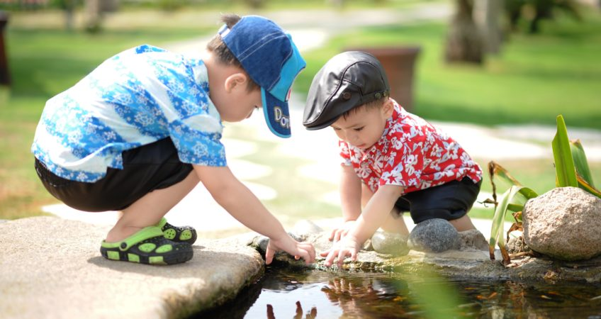 Child Custody - children playing with water